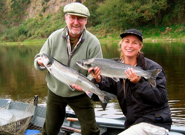 Gelly and I with nice Salmon on the Tweed
